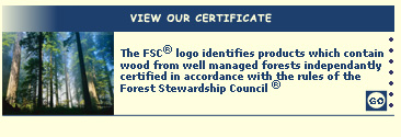 View our FSC Certificate